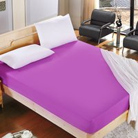 1pcs 100%Polyester Solid Fitted Sheet Mattress Cover Four Co...