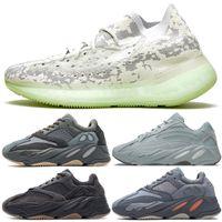 All-New Kanye West 700 V2 الكربون الأزرق مستشفى الأحذية السوداء أحذية رجالي سنيكر فانتا الجمهور V3 أزاريث آزنيل موجة عداء الكالنر