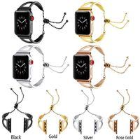 Apple Için Watchband bilezik Watchband Izle Bantları 38mm 42mm 40mm 44mm Paslanmaz Çelik Kayış Iwatch Serisi için 4/3/2/1 Metal Yedek Bilek Bandı