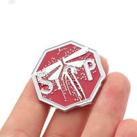 10pics jogo The Last of Us Part II Firefly emblemas broche de metal 3D Coleção lembrança para Fan Mulheres esmalte presente Pin Jóias