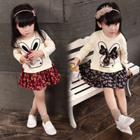 Hot Baby Girl Dress Girl Spring autumn Cotton Sprouting Rabb...