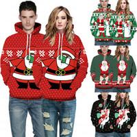 2019 최신 크리스마스 커플 남성 여성 까마귀 운동복 크리스마스 따뜻한 자켓 남여 후디 코트 풀오버 탑 땀 셔츠