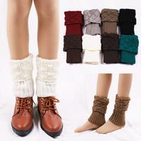 Meias Hosiery Botões de Boot Botões Botões Crochet Thmitted Gaiters para Outono Inverno Mulheres Knit Elastic Leg Warmer