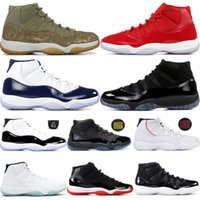 11 11s Men Basketball Shoes Concord 45 Olive Lux Platinum Ti...
