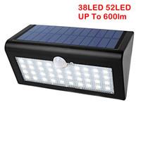 야외 정원 마당 진입로에 대 한 3 가지 모드로 UMLight1688 52LED / 38 LED 모션 센서 태양 광 방수 벽 램프 에너지 절약 빛
