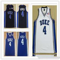 Duke Blue Devils personalizzato # 4 JJ Redick College Man Women Youth Basket Basket Plackys Size S-5XL Qualsiasi nome Nome Numero Sport Jersey