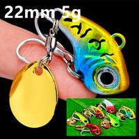 6 di colore 22 millimetri 5 g VIB Spinner Pesca Ganci ami 10 # BKB Hook Fishing Lure Esche metalliche Esche Pesca Attrezzatura di pesca BU_40