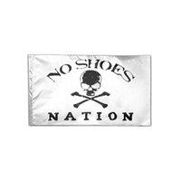 3x5 Ft weiß Kein Schuh Nation Flagge 3x5ft Druck Polyester Verein Sport Innen mit 2 Messing-Ösen, freies Verschiffen