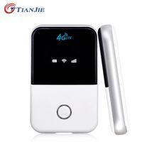 Unlocked 4G 150Mbps Routeur WiFi mini-routeur 3G 4G Lte Wireless Portable Pocket Wifi Mobile Hotspot Wifi voiture Routeur avec Emplacement pour carte SIM