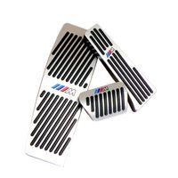 Нет Drill газа Педаль тормоза для BMW 3 серии NEW Auto алюминия газа Ускоритель тормоза и подставка для ног педалей LHD AT С M логотипом