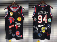 19ss New Three Collocation 94 Basketball Vest Shirt Uomo Donna Breatheable Fashion Jersey Streetwear T-shirt da esterno