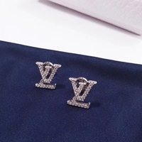2019 S925 pure silver Brand name stud Earring luxury stud ea...