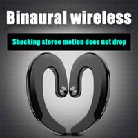 TWS HBQ-Q25 Wireless Bluetooth conduzione ossea auricolari doppio cuffie impermeabili Ear-Hook auricolari Sport auricolare HBQ Q25 osso sensore Mic