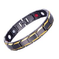 Исцеление Магнитный Браслет Мужчины Женщины Здоровый Магнитный браслет титановый Steel Power Therapy Магниты браслеты Lovers подарка ювелирные изделия