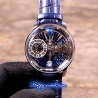 Nueva versión estática EPIC X Chrono CR7 Skeleton Diamonds Astronomical Tourbillon Dial Swiss Quartz Mens Reloj de oro de oro Relojes Diseñador de relojes