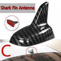4 Typ Universal Style z włókna węglowego Styl Shark FIN Antena Baza Zasady Dekoracyjne Antena Antena Dachowa Wtyczka do większości samochodów