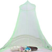 Дворец Москитная сетка Круглый Шнурок купольная Шторы Девушка кровать Canopy Lace Москитная сетка для девочек B &