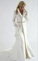 관대 한 긴 소매 신부 코트 페르시 스팽글 슈시 얼룩 공식 파티 망토 긴 신부 코트 가짜 모피 따뜻한 Bolero 재킷