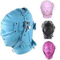 Máscara de sexo BDSM Sexo Escravo Capuz Máscara de Olho Produto Do Sexo Brinquedo Bondage Encadernado Traje para Casal J10-72