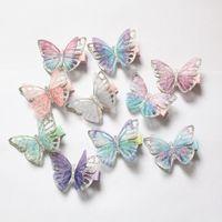 2019 New Baby Butterfly Design Clipes de Cabelo 20 pçs / lote Bonito Crianças Novidade Acessórios de Cabelo Atacado Gauze Glitter Borboleta Princesa Princesa Hairpins
