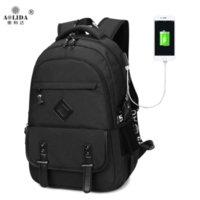 2019 nuova borsa doppio della spalla del business dei computer esterno maschio zaino USB studente impermeabile borsa da viaggio