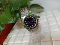 2 usine Hot acheter des montres pour hommes BP Vintage 40mm 16610 16610LV Bezel alliage vert en acier inoxydable Cadran Noir Asie 2813 Mouvement automatique M