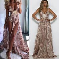 Lo nuevo del brillo Dubai Sexy cuello en V vestidos de baile de la sirena larga noche formales de los vestidos del coctel del partido Vestidos árabe Couture Kaftan