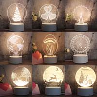 30 Art-3D-Nachtlicht Neues und Fremdes LED kleine Tischlampe Weihnachts Geburtstags-Geschenk-Nachtlicht-Partei-Dekoration XD23156