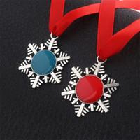 Kirsite Halskette Weihnachten kleine Geschenke Schlüssel Modellierung Halsketten Schneeflocke Seil Kette blau rot Anhänger neue Ankunft 4 5sc L1