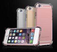 Прозрачный чехол TPU Чехол для телефона для iPhone12 11PRO 8PLUS XS MAX Soft + Hard Samsung S20 Оболочка Утолщение четкого телефонного гель