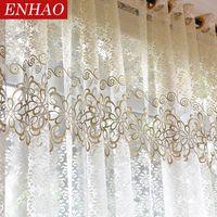Floral moderne schiere Tüll Vorhang für Wohnzimmer Schlafzimmer Küche Voile Gardinen für Fenster Tüll Vorhänge Vorhänge
