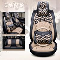 Universale Fit auto Accessori auto Posto interiore Covers Set per il cuoio PU berlina Sedili: Vera Surround design Adjuatable copre per SUV
