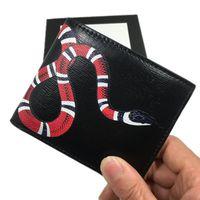 2020 أسود جلد طبيعي الرجال قصيرة billfold محفظة جلد البقر الجلود بطاقة الائتمان حامل محفظة الأزياء الأفعى بطاقة هوية محافظ للرجل 451268