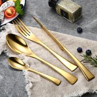 LEKOCH 18/10 Edelstahl Geschirr Besteck Abendessen Gabel Löffel Messer Mit 18 Karat Gold Für Monther Tag Geschenk