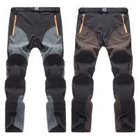 Pantalones elásticos de secado rápido al aire libre Pantalones de senderismo Hombres Verano Montaña Escalada Pantalones de pesca Deporte Pantalones a prueba de viento D25
