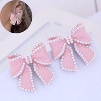 Pendientes de joyería para las mujeres Pendientes de perlas de imitación de joyería de moda pendientes mariposa grande Declaración de joyería 2020