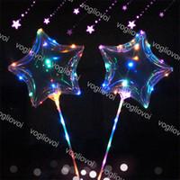 Светодиодные струны, мигающий шар шар в форме звезды с палкой волна шарика 3M струна света вверх для рождества Хэллоуин свадьба украшения дня рождения DHL