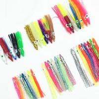 20pcs4cm / 5cm / 6cm / 7cm Faldas de calamar luminosas en forma de aguja Cebos de pulpo suave Señuelos Tackle Craft For Jigging