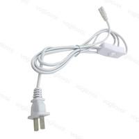 Accesorios de iluminación T5 T8 Cable de conector 6FT 1800mm Extensión 2Pin 0.75mm Potencia con interruptor US Conector de PVC para tubos LED integrados DHL