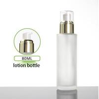 100pcs 80ml fosco garrafa loção, pulverizador recipientes vazios redondos frasco de spray de embalagens de cosméticos névoa fina