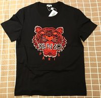 2019 Top uomo T-shirt europee Kenzo Marca Ked Tiger Head Top Quality Uomo Donna T-shirt 100% cotone manica lunga Casual Felpe