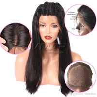 Natural Color Straight 4*4 Silk Base Human Hair Wigs With Ba...