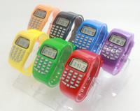 YOYO Мода Электронные Цифровые СВЕТОДИОДНЫЕ Часы Случайные Силиконовые Спортивные часы Для Детей Детей Многофункциональный Калькулятор наручные часы 1000 ШТ.