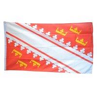 Francia Bandiera della Alsazia 3x5ft poliestere di stampa Club Sport di squadra coperta con 2 Passacavi ottone, trasporto libero