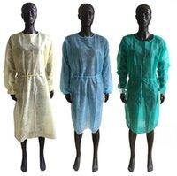 Ropa de protección desechables 4 colores no tejido Aislamiento Vestidos Una Hora anti Protección contra el polvo Trajes LJJO7992