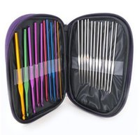 뜨개질 바늘 알루미늄 원형 니트 핸드 도구 링 DIY 도구 홈 바느질 공예 22pcs / lot LXL7777-1