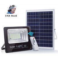 Powered 100W Solar-Straßenflutlicht, 210 LED 6000 Lumen im Freien wasserdichten IP65 mit Fernbedienung Sicherheit Licht für Yard
