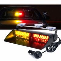 Rojo Amarillo 16 LED de alta intensidad LED Aplicación de la Ley de Riesgos de emergencia Advertencia luces estroboscópicas para techo interior / Dash / Parabrisas