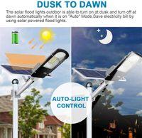 Bir Güneş LED sokak lambası 30W / 60W / 90W LED Güneş Işık PIR Hareket Sensörü Zamanlama Plaza Garden için Lamba + Uzaktan Kumanda Tüm
