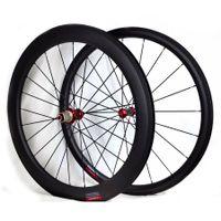 عجلات دراجة الكربون الأمامي الخلفي 38MM الفاصلة 60mm أنبوبي الطريق دراجة الفرامل العجلات البازلت سطح المحاور Powerway R36 3K مات